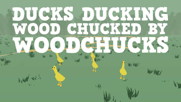 Ducks Ducking Wood Chucked By Woodchucks